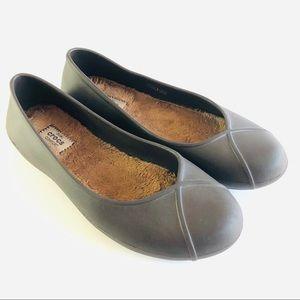 Crocs Gray Dual Comfort Olivia II Lined Flats